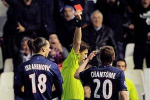 Por esta falta expulsaron a Ibrahimovic en la Champions