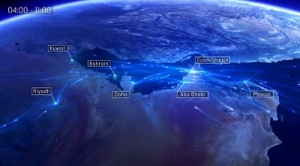 El tráfico aéreo sobre el Golfo Pérsico (espectacular video)
