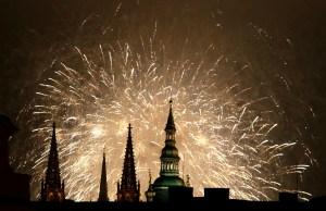 Praga celebra el primer día del 2015 (Fotos)
