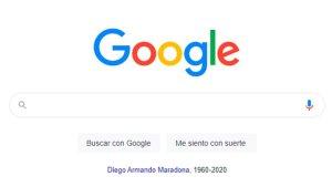 La herramienta de Google para rendir tributo a Maradona
