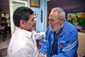 Maradona, Cuba y el tatuaje de Fidel Castro en la pierna de marcar goles (Fotos)