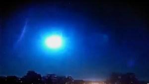 Captaron el momento exacto en que un meteorito explotó sobre el cielo de Brasil (Video)