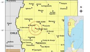 Terremoto de 6,4 de magnitud sacudió la frontera entre Argentina y Chile