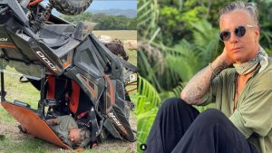Las IMÁGENES del aparatoso accidente que sufrió Fernando Carrillo en una camioneta