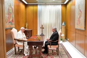El papa Francisco y el presidente argentino se reunieron durante 25 minutos