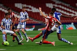 Atlético de Madrid venció a la Real Sociedad y se acercó más al título liguero