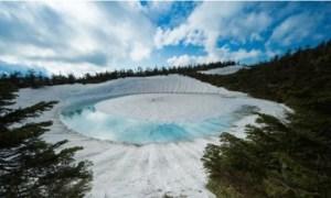 """Kagami Numa, el lago del """"ojo de dragón"""" que esconde un fenómeno alucinante"""